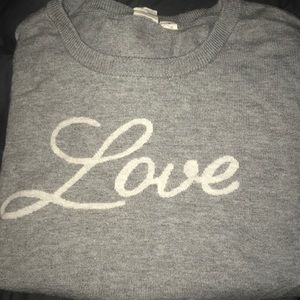 Gap love gray sweater. Size m